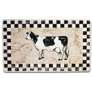 cow kitchen rug primitive raggedy country farm cow doll pattern 562