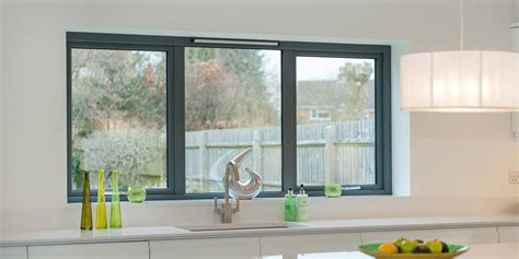 grey aluminium windows bi folding doors  clearview
