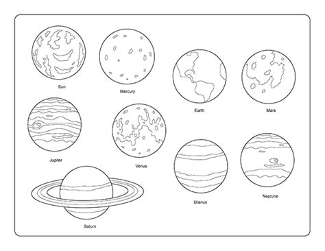 solar system clipart black and white solar system printout coloring page cliparts clipartix