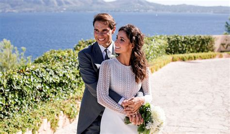 Tennis ace rafael nadal, 33, married mery perelló, his partner of 14 years, at a castle in mallorca on saturday. Rafael Nadal's Wife Maria Perello's Wedding Dress Revealed