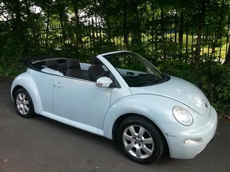 2005 Vw Beetle Cabriolet Convertible 1.4 In Rare Baby Blue