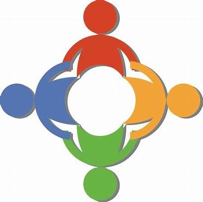Clipart Clip Team Hands Way Diverse Circle