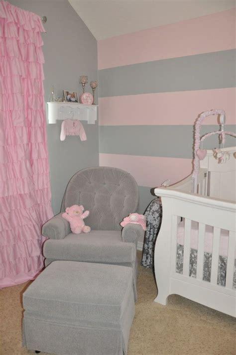 peytons pink  gray nursery baby steinke