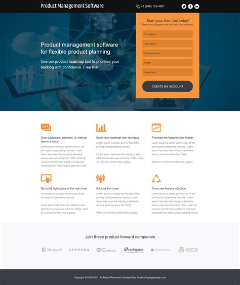 modern landing page designs to capture quality and effective leads