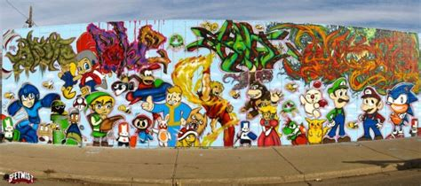 Gaming Graffiti Mural Features All Of Our Favorites Gearfuse