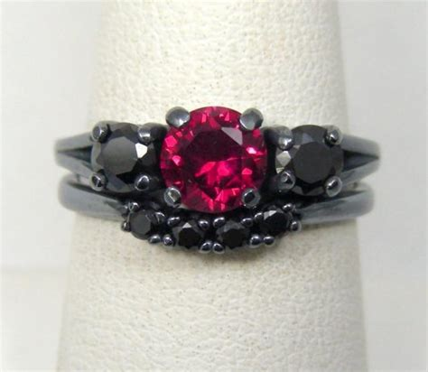 3 day sale gothic wedding rings goth engagement 2400097