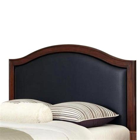 home styles duet leather inset headboard black king