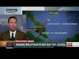 CNN BREAKING NEWS::MH370 Fly Way Off Course#2 [12Mar2014 ...