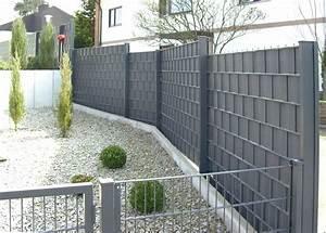 Zaun Aus Glas : grimm marre doppelstab sichtschutz ~ Michelbontemps.com Haus und Dekorationen