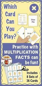 Multiplication Facts Games Bundle  9 Math Card Sets