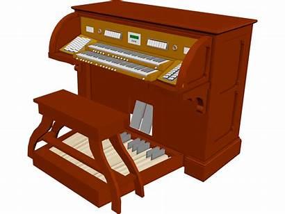 Organ Pipe Church 3d Console Musical Piano