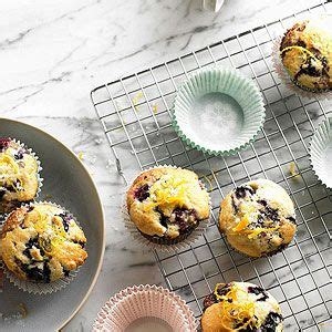 citrus topped blueberry muffins recipe