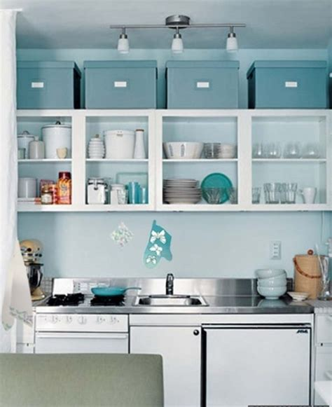 How to decorate space above kitchen cabinets   Little