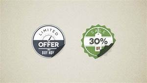 Modern vintage stickers badges PSD file | Free Download