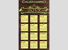 Calendarios espectaculares 2017 para imprimir