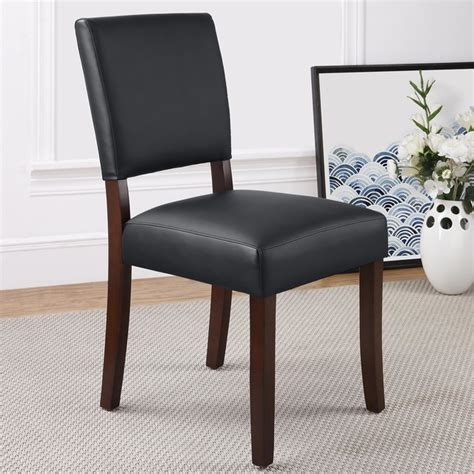 dorel living black parsons chair contemporary dining