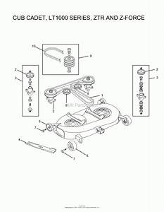 Oregon Cub Cadet Parts Diagram For Cub Cadet  Lt1000 Series  Ztr  U2013 Best Diagram Collection