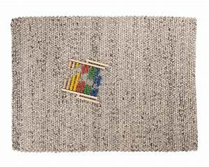 shopping deco le tapis en laine tressee cocon de With tapis laine tressée