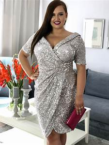 mira sukienka cekinowa beż sukienka plus size duży