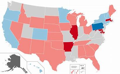 Map Gubernatorial Election Results States Svg Elections