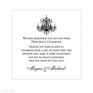 wedding invitation registry wording amulette jewelry With wedding invitation insert registry wording