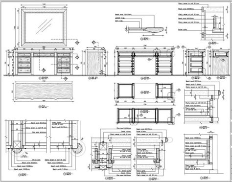 prepare furniture woodworking joinery cad shop drawing