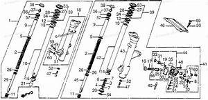 Honda Motorcycle 1983 Oem Parts Diagram For Front Fork