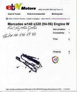 1995 S320 Engine Wire Harness - Mercedes Forum