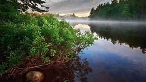 Download Wallpaper 1920x1080 Morning landscape, fog, river ...