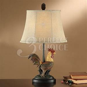 24quoth table lamps farm style rooster kitchen replica base With table lamp in kitchen