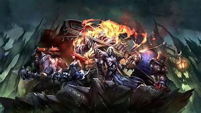 Legends League Background Pentakill Mordekaiser Wallpapers Karthus
