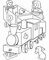 Coloring Train Pages Choo Popular sketch template