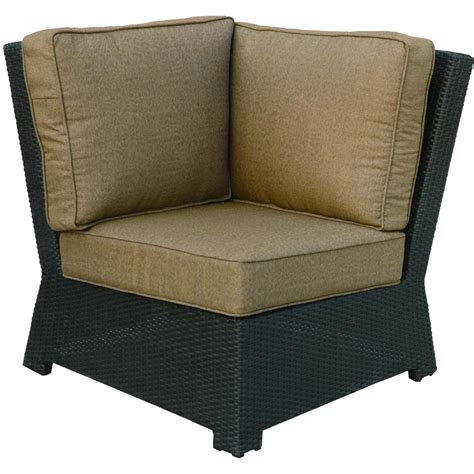 darlee vienna resin wicker patio sectional corner chair