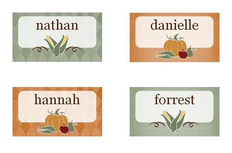 printable thanksgiving place cards released  part