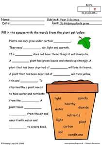 Plants Worksheets Primaryleap Co Uk How Do Plants Grow Worksheet