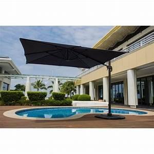 Grand Parasol Rectangulaire : barbados parasol d port 3 x 4m rotatif 360 gris achat vente parasol ombrage parasol ~ Teatrodelosmanantiales.com Idées de Décoration