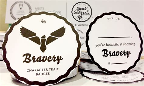 Bravery Character Trait Badges