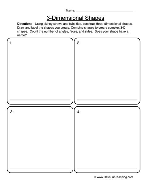 Shapes Worksheets  Have Fun Teaching
