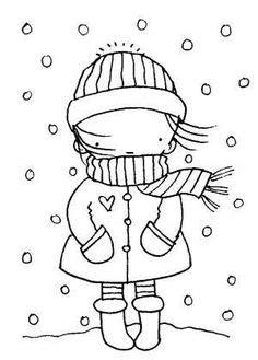 printable winter coloring pages  preschoolers
