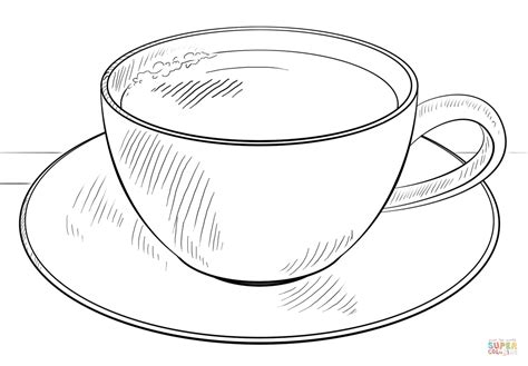 Kleurplaat Kopje Thee by Cup Of Coffee Coloring Page Free Printable Coloring Pages