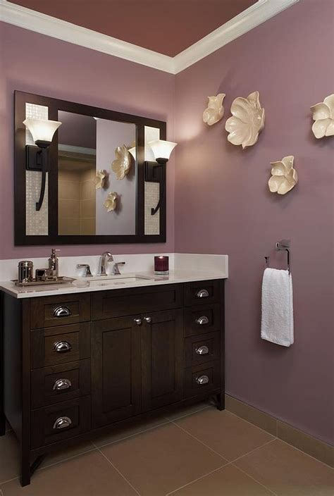 Wall Color Ideas For Bathroom by 23 Amazing Purple Bathroom Ideas Photos Inspirations