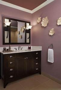 23 amazing purple bathroom ideas photos inspirations With what kind of paint to use on kitchen cabinets for wall art purple flowers