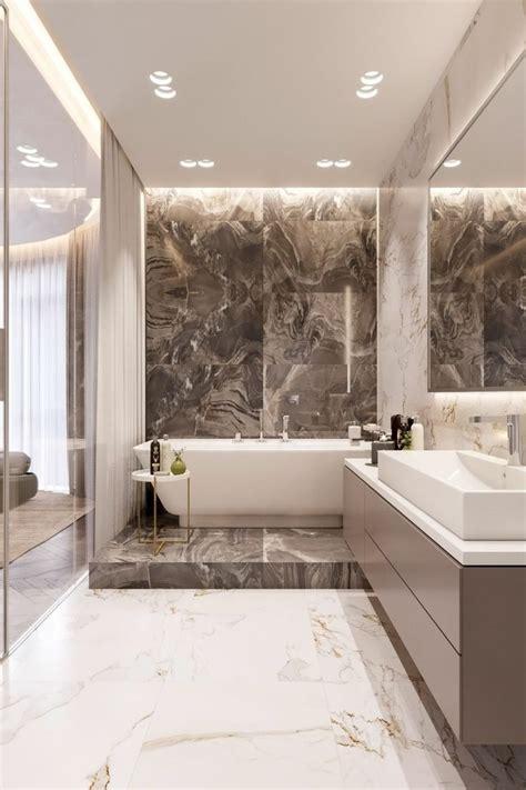 banos de lujo  ideas  usar el marmol en su diseno