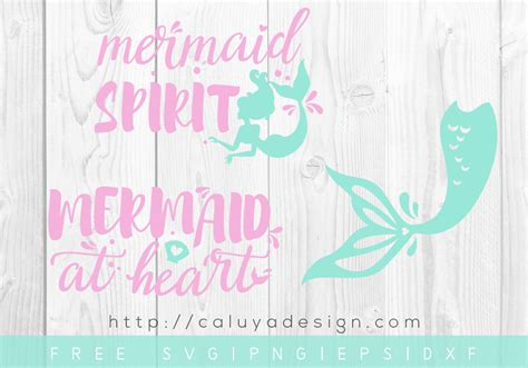 Free Mermaid Svg, Png, Eps & Dxf By Caluya Design