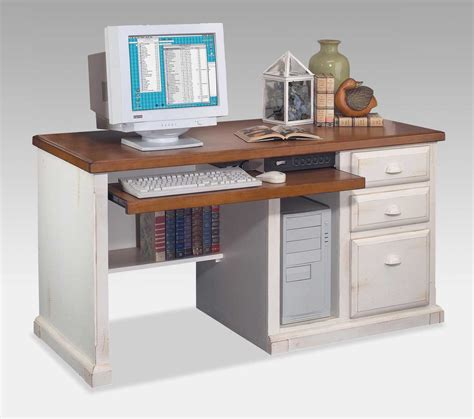 white and wood desk rectangle white wood desk with storage drawers and brown