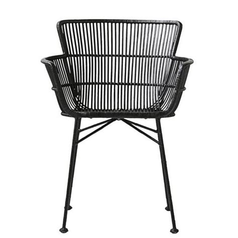 Chaise Rotin Noir Avec Accoudoirs Salle A Manger Design