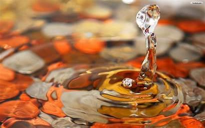 Water Colorful Drops Wallpapers Nice Fun