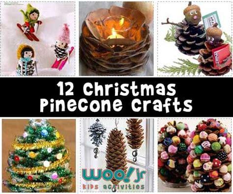 christmas pinecone crafts woo jr kids activities