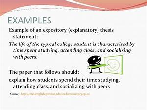 Examples Of Thesis Statements For Expository Essays Northridge  Examples Of Thesis Statements For Expository Essays