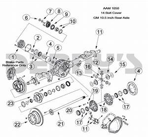 Aam 10 5 Inch 14 Bolt Rear End Axle Parts For American